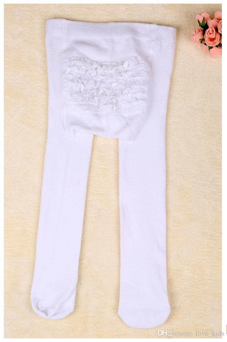 Bébé infantile à volants Leggings chauds pantalon en dentelle bébé filles bébé pantalon de dentelle PP pantalon tricoté Leggings chaussettes top qualité