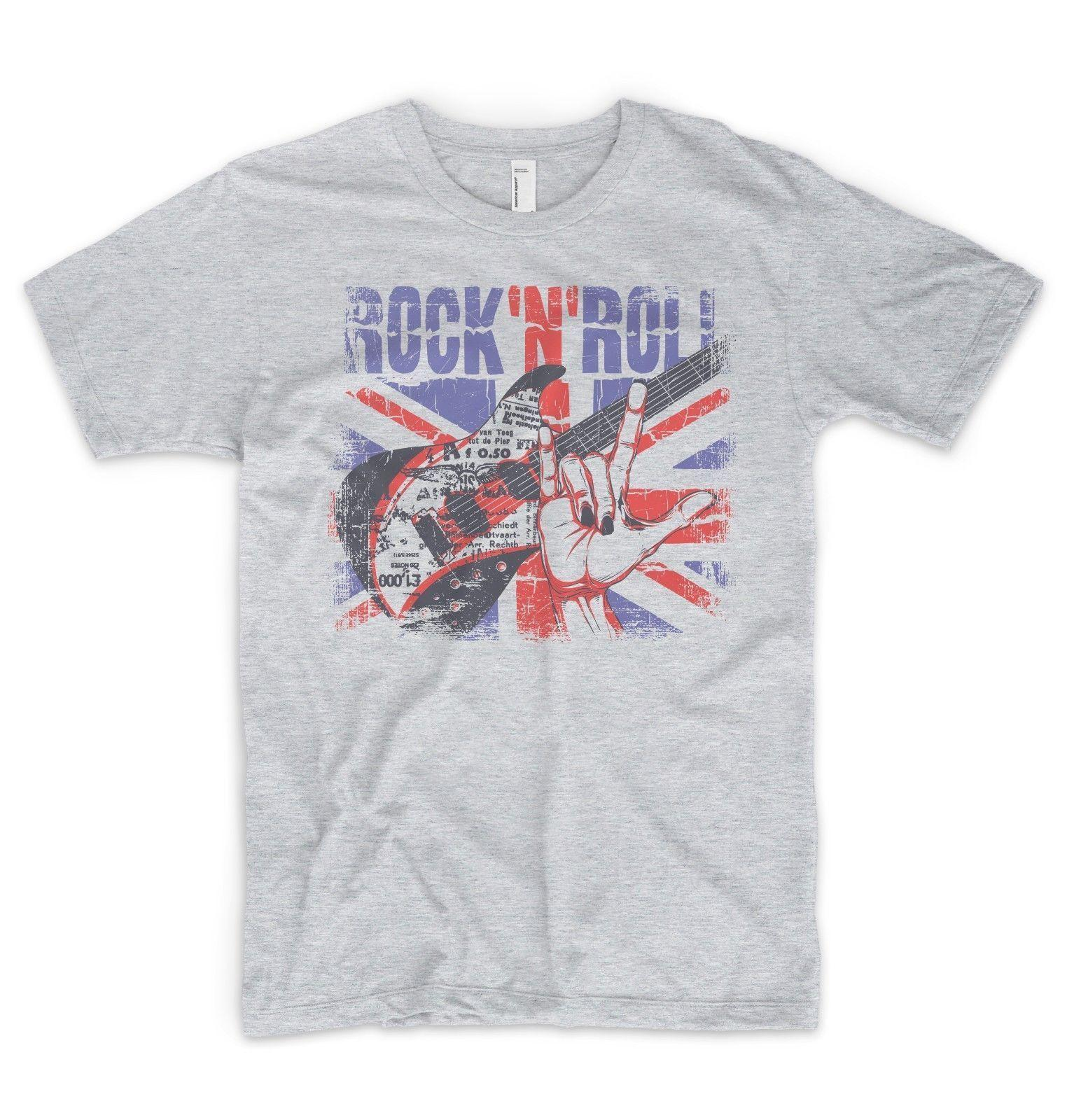 Details Zu Union Jack T Shirt British Flag Rock N Roll Guitar Punk Music  Oasis Queen Funny R Shirt Political Tee Shirts From Lukehappy13 15c32fde760d