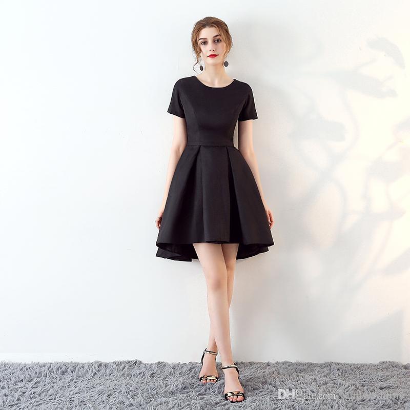 Großhandel Vintage Kleider Für Party 2018 Kurze Ärmel Satin ...