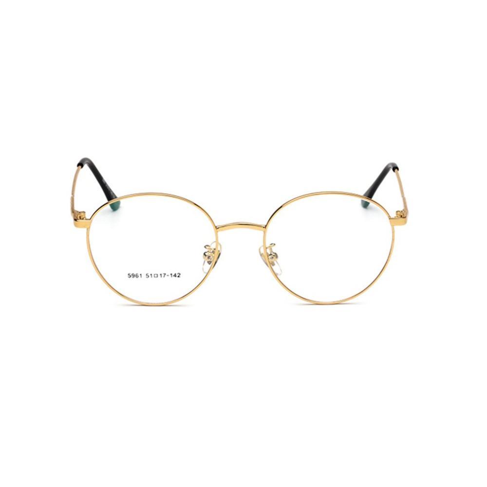 5eca8633a26 Fashion Plain Glasses Men Women Big Round Shape Vintage Glasses Metal Frame  Clear Resin Lens Unisex Plain Mirror Eyewear Round Sunglasses Cheap  Eyeglasses ...