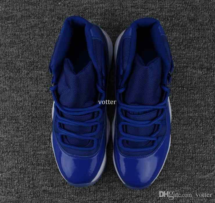 2018 neue hohe Qualität 11 XI Royal Blue Basketball Schuhe für Männer Sport Mens 11s Trainer sportlich Turnschuhe Größe US 7-13