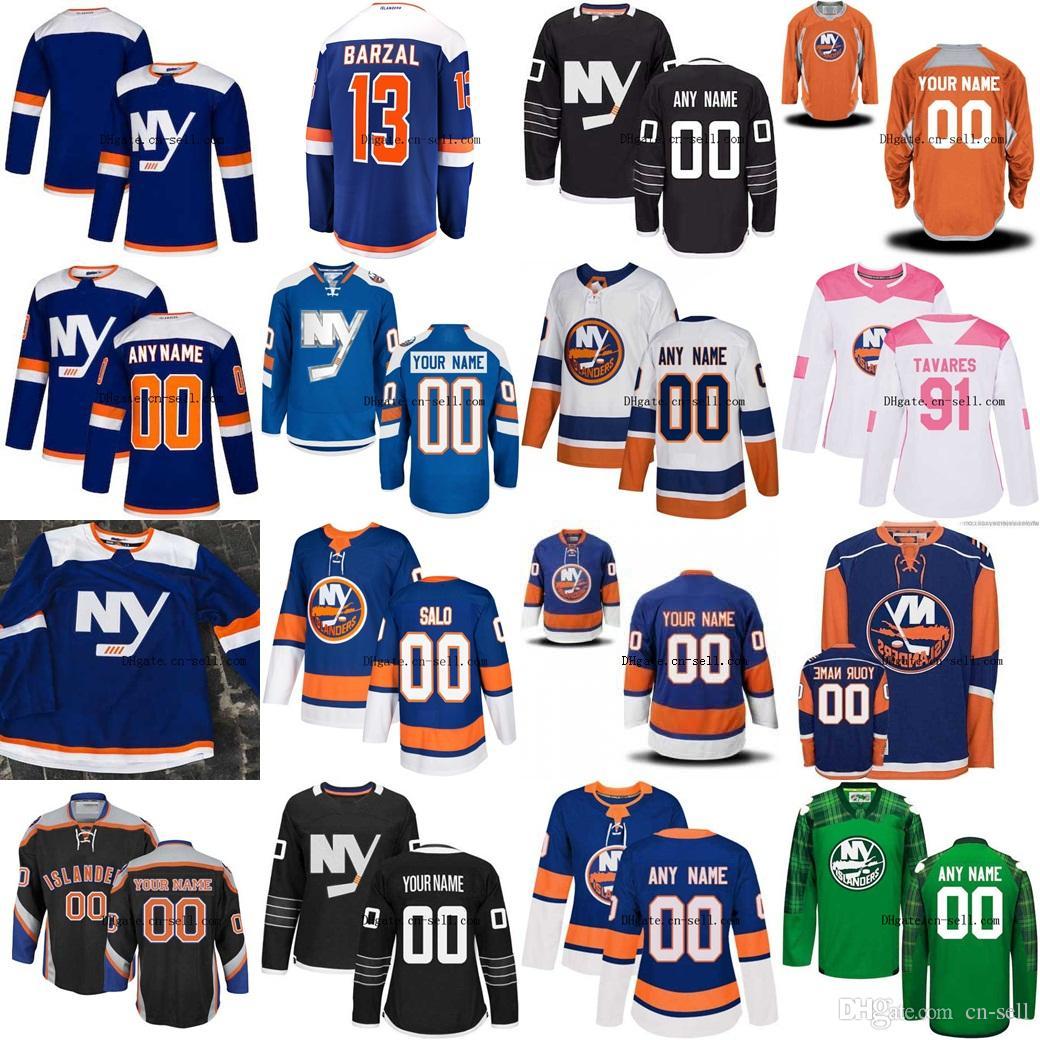 size 40 d6064 0cbc3 2018 Third New York Islanders 13 Mathew Barzal Nick Leddy Cal Clutterbuck  Johnny Boychuk Anders Lee Nelson Custom Alternate Hockey Jerseys