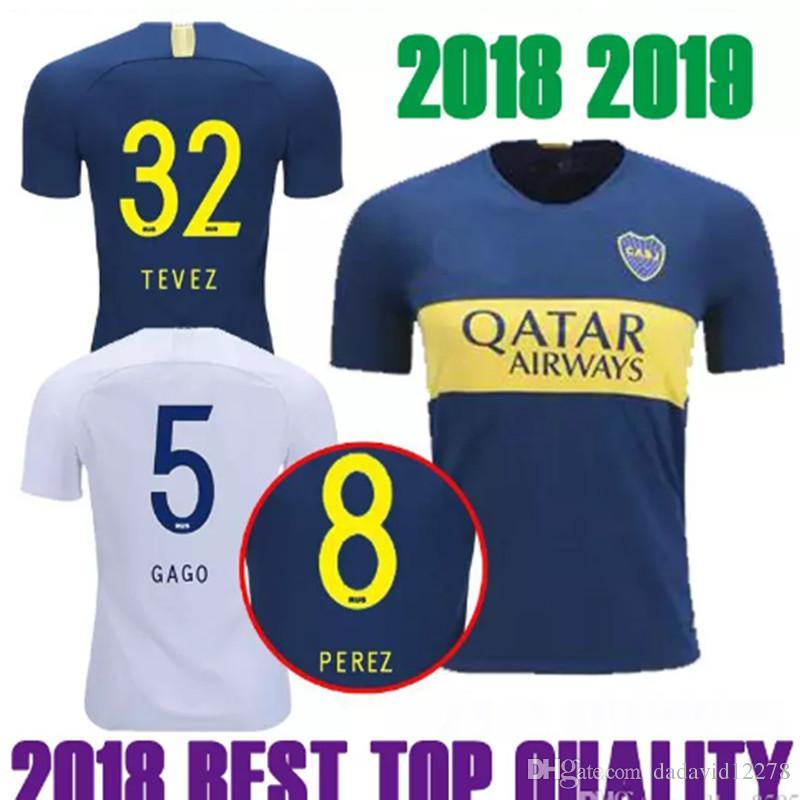 Thai 18 19 Camisetas De Fútbol De Boca Juniors ROSSI PEREZ Camiseta De  Fútbol 2018 2019 16 BARRIOS 10 Camiseta De CARDONA GAGO TEVEZ Camisetas De  Futebol ... ac4ce75993976