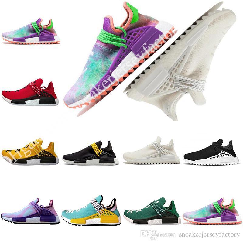 17de3d81b 2019 Mens Womens Human Race Running Shoes Pharrell Williams Hu Trail Cream  Core Black Nerd Equality Holi Nobel Ink Trainers Sports Sneakers From ...