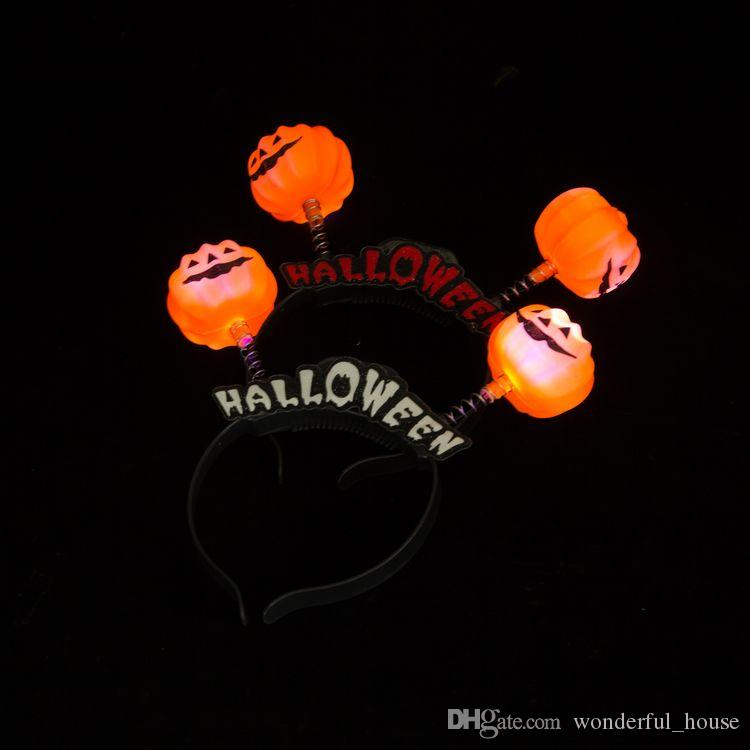 06501d0484063 2019 Halloween Headband Pumpkin Hat Santa Hat 8 Designs Theme Party Head  Accessories Children Hair Accessories SF Packet From Wonderful house