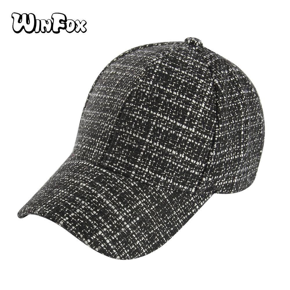 Compre winfox moda ajustable cuadros mujeres hip hop gorras jpg 1000x1000 Mujer  gorras para dama 450b2bc2e15