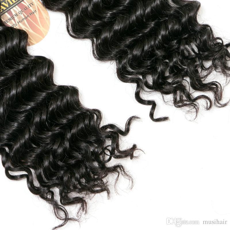 dubai shopping online Incredibile !!! 8A MalaysianTight Curl Remy Hair Weave, doppia estensione 100% dei capelli umani di trama