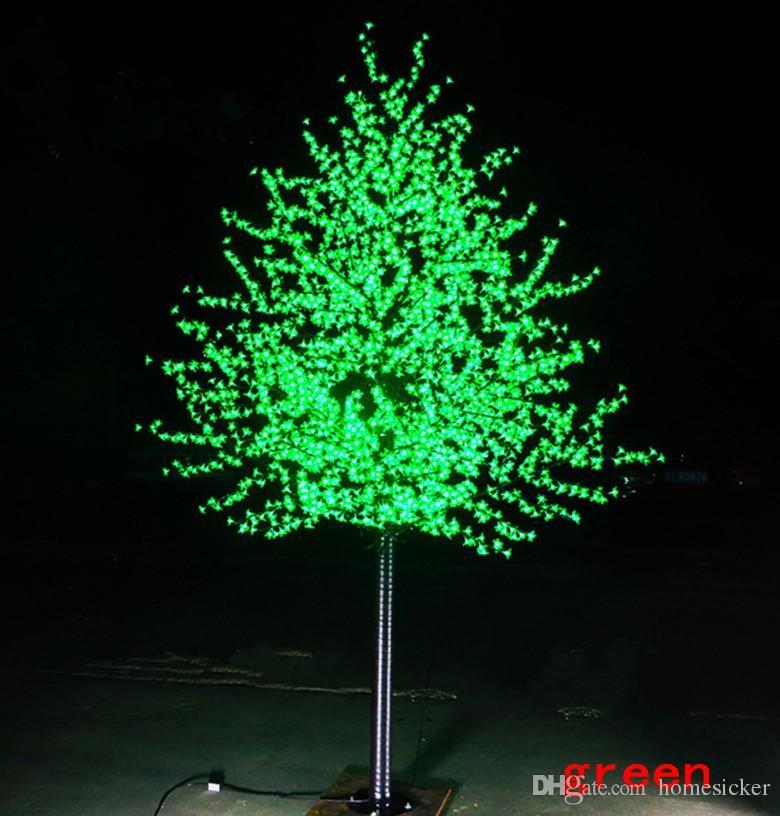 LED simulation étanche lampe pêchers extérieur jardin paysager de 1,5 à 3 mètres / 480 ~ 2304 arbre de fleurs de cerisier LED décoration de jardin