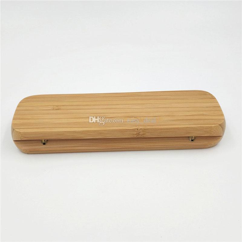 Vintage Bambu Kutusu Kalem Kutusu Iş Hediye Kalem Kutusu Kalem Kutusu Noel Yeni Yıl Düğün Hediyesi Için QW7112