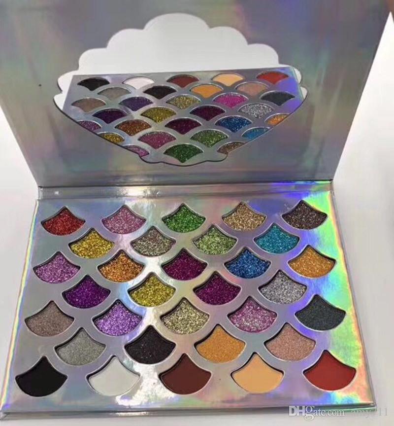 24-Saatlik Gönderi Cleof Kozmetikler Mermaid Glitter Paleti Pırıltılı Göz Makyajı 32 Renkli Göz Farı Paleti Ayna