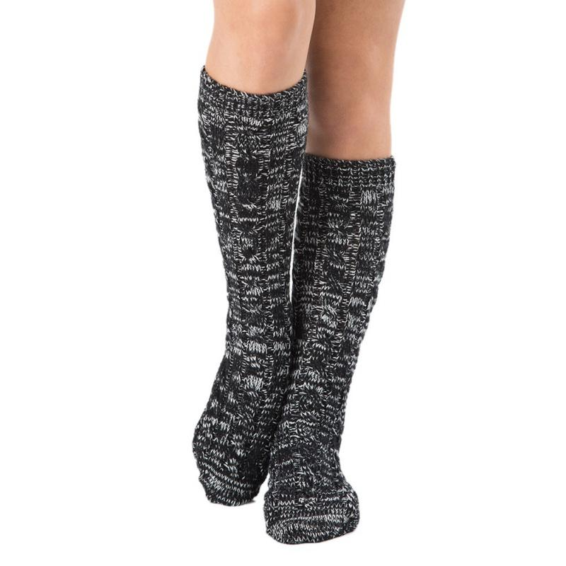 92e9b0604 2019 Christmas Long Tube Socks Women Men Printed Knitted Stretch Warm Solid  Color Holidays Socks 2018 New Arrival From Roadsun