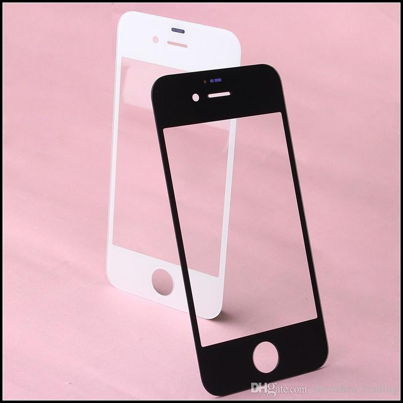 Touch Screen Outer Glass for iPhone 4 4S Glass Lens Replacement for iPhone 5 5S Black and White DHL