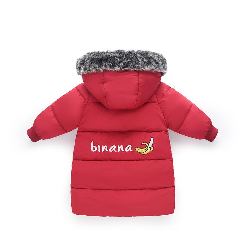 8a22620f3c35 Kids Winter Jackets Fur Hooded Cotton Padded Baby Girls Winter Coat ...