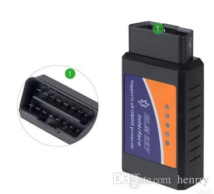 20 stks Bluetooth Elm327 BT Elm327 OBD2 ELM 327 CAN-BUS Hoge kwaliteit Auto Diagnostic Adapter Kabel V1.5 PIC 25K80