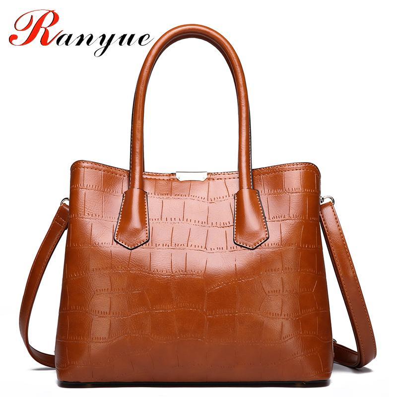 RANYUE 2018 New Fashion Stone Handbag Women High Quality Shoulder Bags  Ladies Solid Crossbody Bags For Girls Sac A Main Satchel Handbags Ladies  Purses From ... d19792f1c6910
