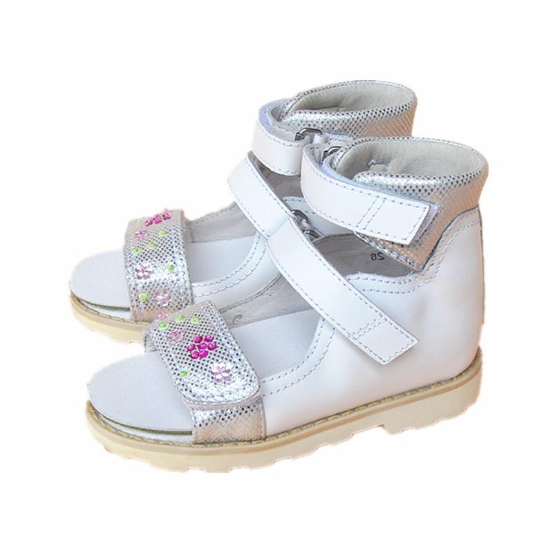 57f700c294540 Acheter Super Qualité Fleur Sandales En Cuir Véritable Enfants Fille  Chaussures