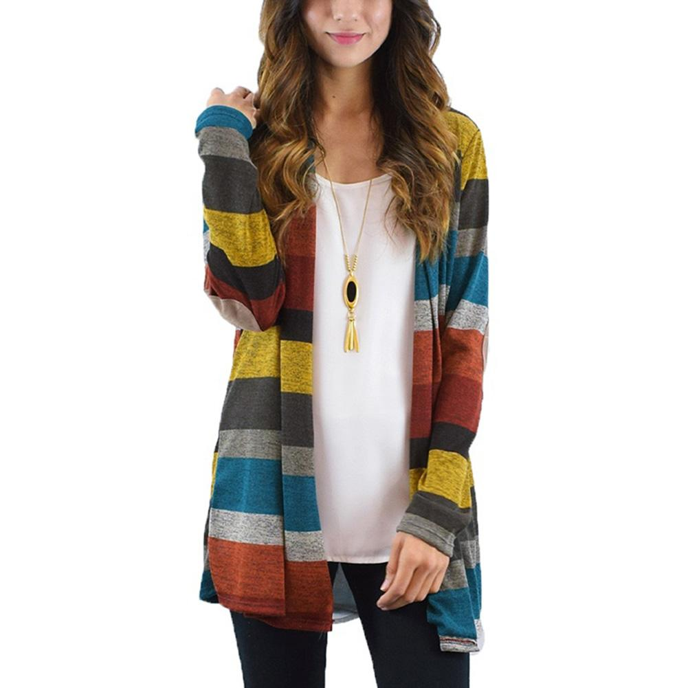 82375579aa08 2019 2017 Autumn Cardigan Women Long Boho Knitted Striped Cardigans Outwear  Long Sleeve Loose Sweater From Huoxiang