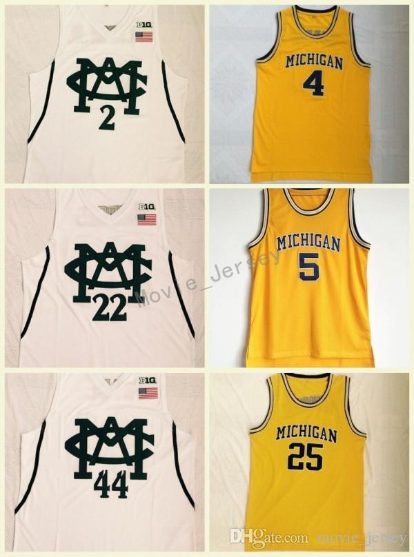 new product ae5f0 7a34c Michigan State College Basketball Jerseys #2 Jaren Jackson Jr #22 Miles  Bridges #44 Nick WADE #4 Chris Webber #5 Rose Embroidery Jerseys