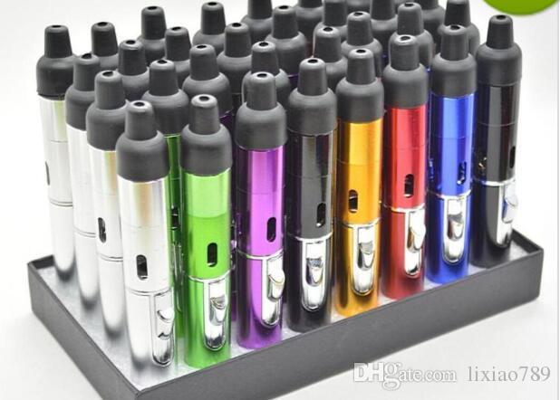 2018Sneak A Vape Click N Vape Mini Herbal Vaporizer Smoking Pipe Touch Flame Lighter Butane Smoke Torch Jet Flame Lighter