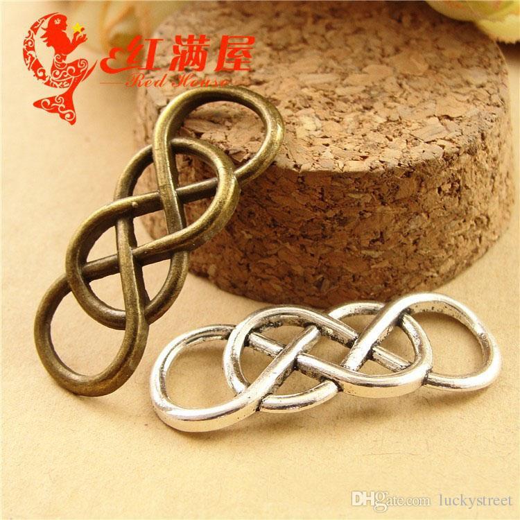 afb8d5a11 A3684 12*32MM Antique Bronze A Double Bracelet Connector Charm Links ...