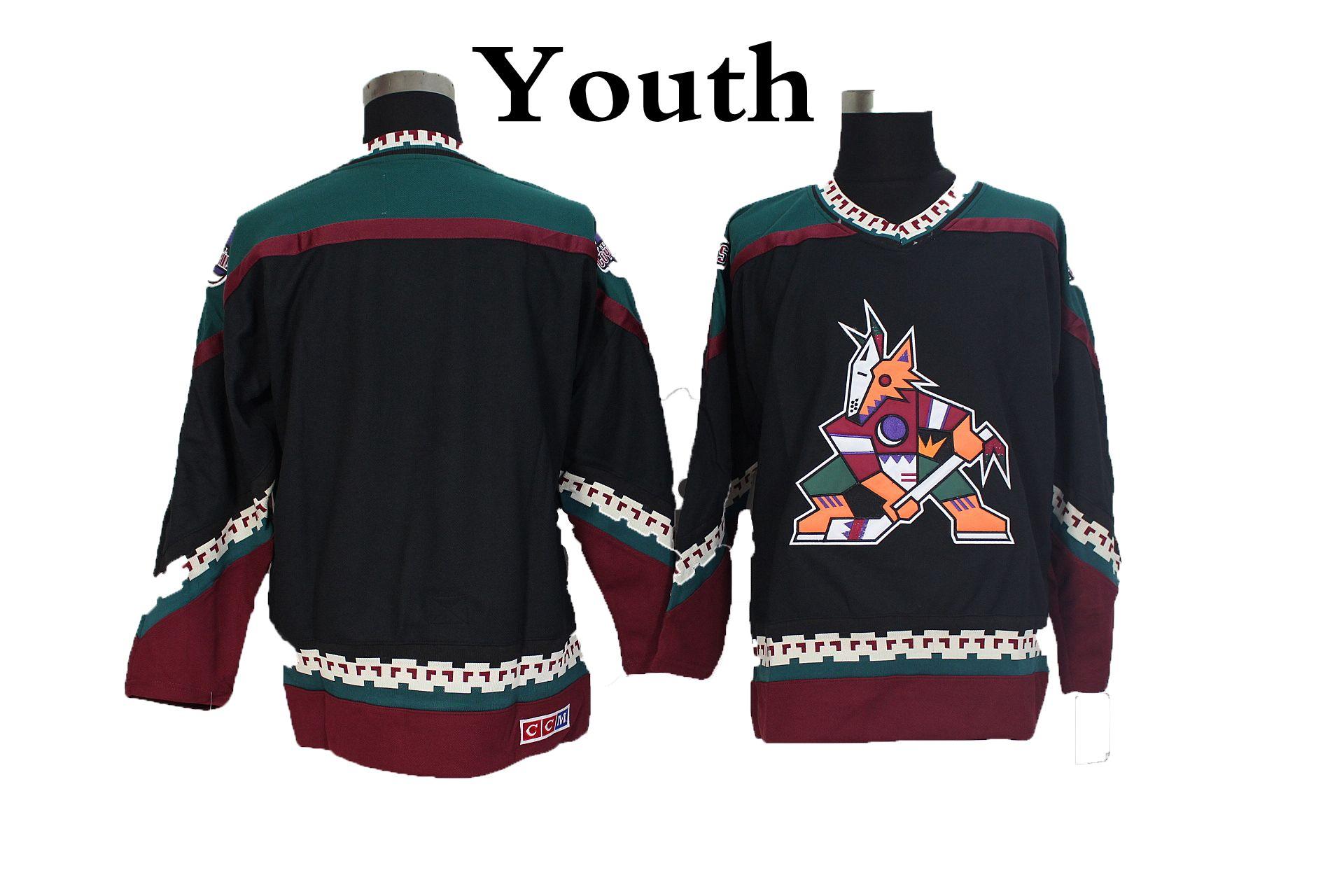 2019 Youth Retro Phoenix Coyotes Hockey Jerseys Black Blank Vintage Arizona  Coyotes Retro Kids Jerseys CCM Stitched Boys Hockey Shirts From  Redtradesport b756eaffd