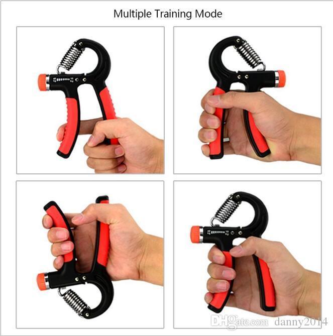 10-40 kg TPR plástico elástico en forma de R Gripper agarre de la mano para la fuerza del antebrazo de la muñeca Completo Power Fitness ejercicio equipo agarre de la mano