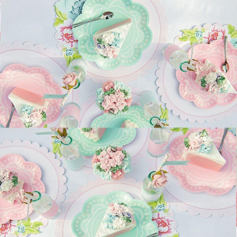 lace-pastel-flower-paper-plates-pink-blue.jpg  sc 1 st  DHgate.com & 2018 Lace Pastel Flower Paper Plates Pink Blue Purple Paper Plate ...