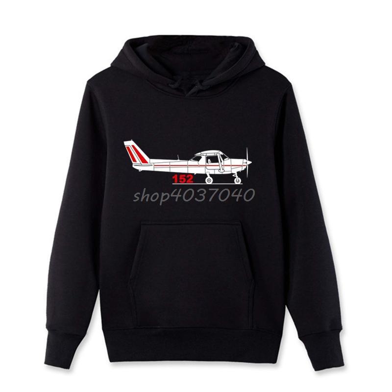 Hot Sale Fashion Cotton Print Men s Hoodies Aeroclassic PPL Pilot Cessna  152 Aircraft Inspired Breathable Sweatshirtss Coat
