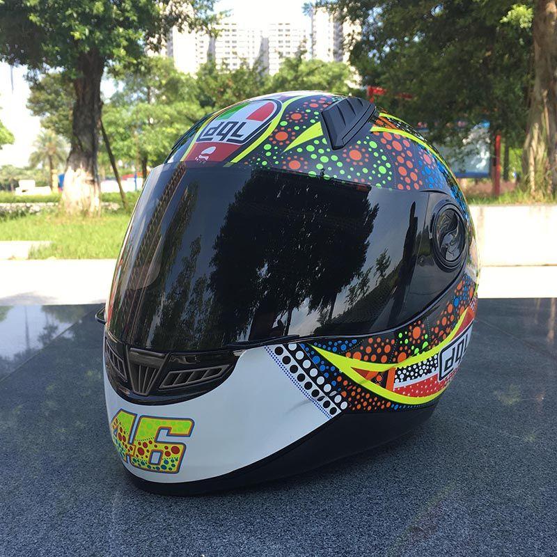 Malushun Motorcycle Helmets Mens Four Seasons Summer Full Cross Country Sports Car Racing Helmet Racing Anti Fog Helmet Cheap Dot Helmets Cheap Dot