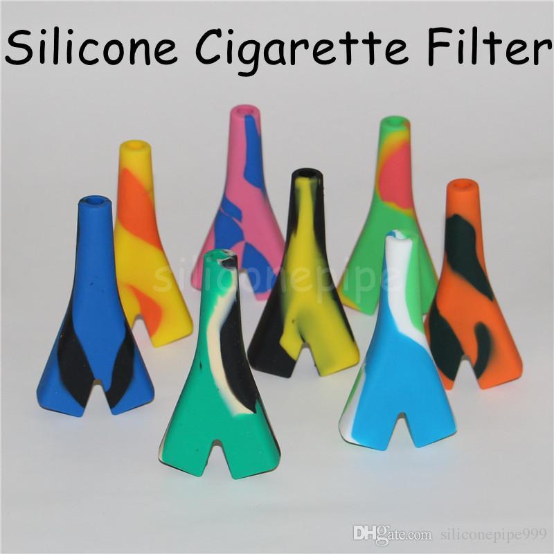 Vendita calda Produttore 2 Joints Holder Silicone Tubo Raw Blunt Gorgogliare Fumo Bubble Pipes Piccolo tubo Mano DHL