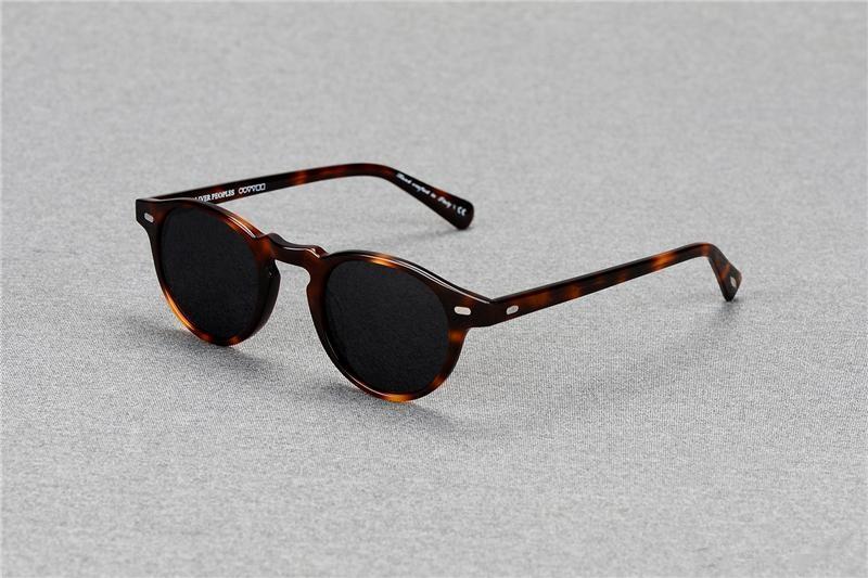 6cca5ab072f 2018 Oliver Peoples OV5186 Gregory Peck Fashion Round Eyeglasses Frames  Vintage Optical Myopia Women And Men Eyewear Prescription Sun Lens  Sunglasses For ...