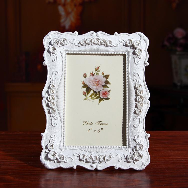 2018 Creative Photo Frame Roses Flowers Crystal Diamond White Europe ...