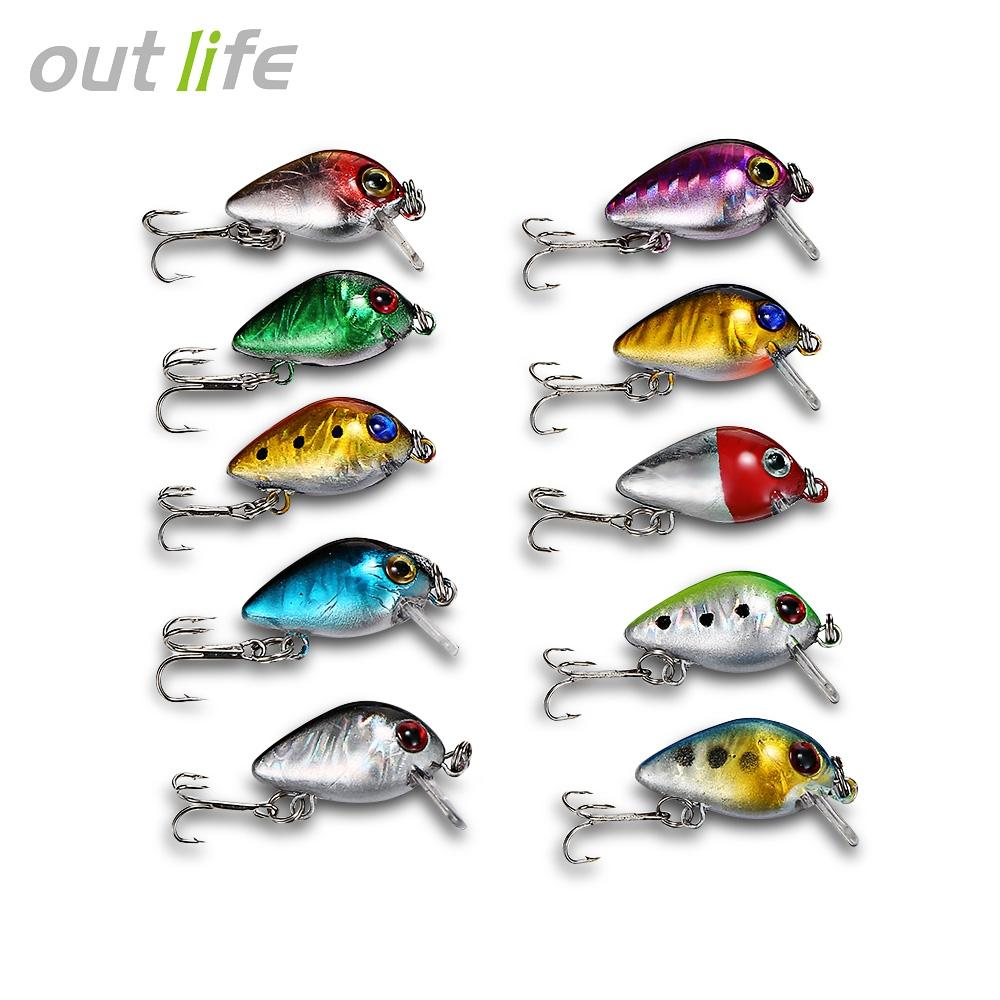 10pcs Fishing Lures Hard ABS Crank Artificial Baits set Carp Fishing Tackle Minnow Lure kit Diving depth 0.9-1.8m Hooks tackles storage Box