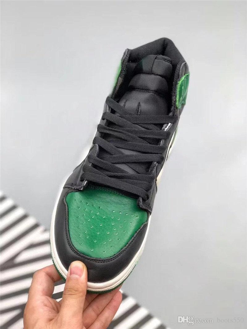 560f9da5548c 2018 Hottest 1 High OG Pine Green Court Purple 1S Basketball Shoes For Men  Authentic Quality Man Real Leather Sneakers With Box 555088 302 Sneakers  Shoes ...