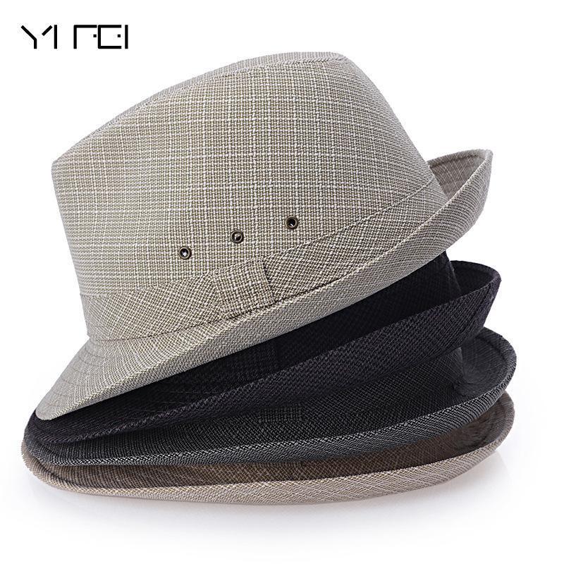 fd8be4abef078 Summer Men Straw Fedora Hats Chapeu Masculino Sun Panama Trilby Caps Linen  Jazz Bucket Hats For Women Kentucky Derby Hat From Hermane