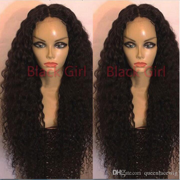 Top Quality Loose Curly Synthetic Lace Front Wigs 14-26 inch black /brown in stock Kinky Curly For Black Women African American Wigs