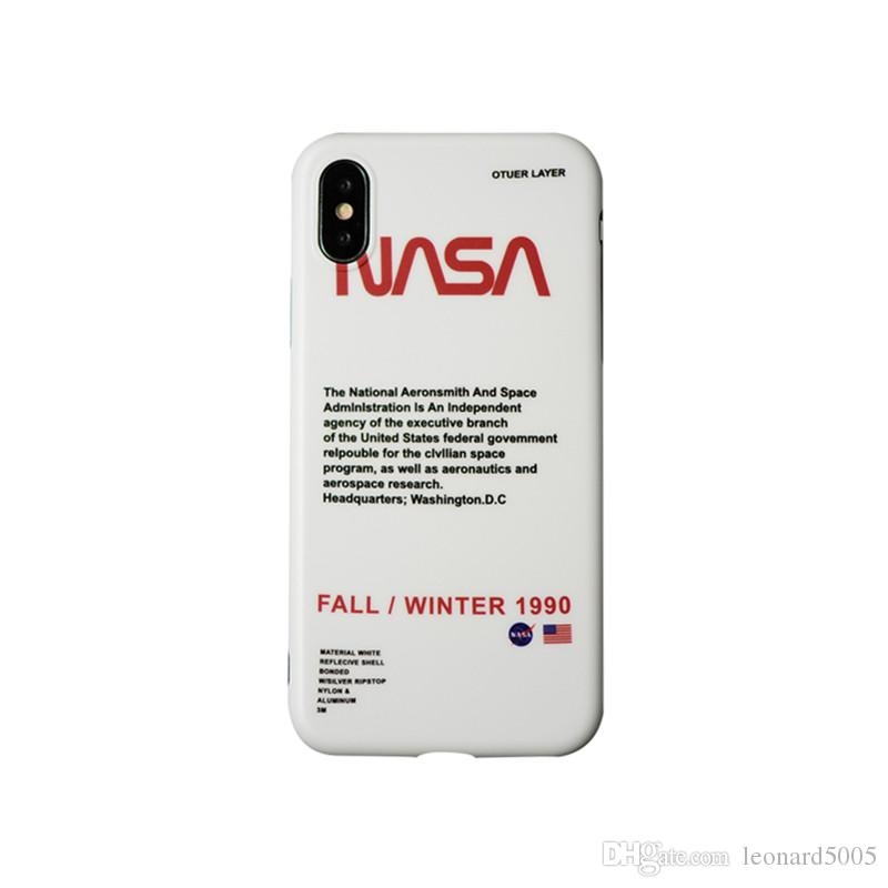 huge discount eb075 0b139 18SS Fashion Nasa Phone Case Silcon Cover For iPhone X 8 7 6 6s Plus XR XS  XSMAX Case Brand Capa Carcasa Coque Funda