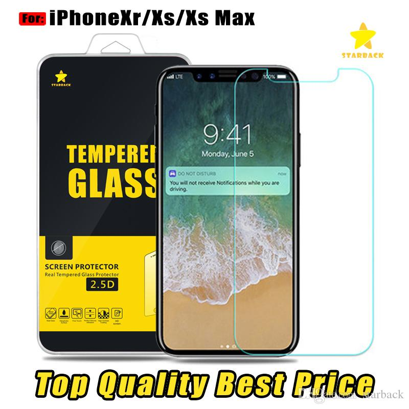 For Iphone 8 Plus iPhone X 7 Plus XS XR Top Quality Best Price Tempered  Glass Screen Protector 0 2MM 2 5D with Reatail Package