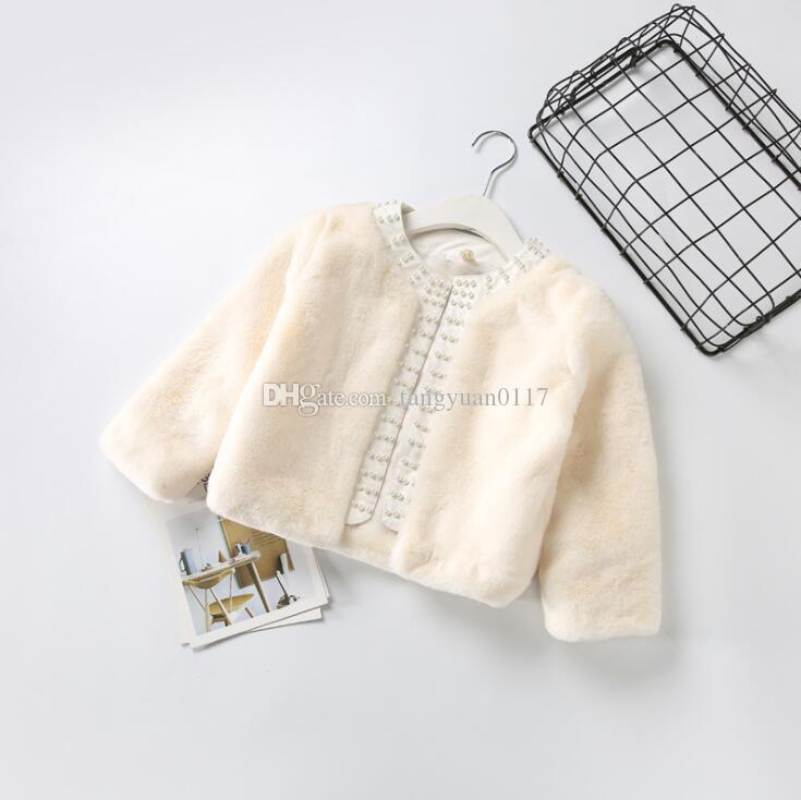 65bb80fa0224 2018 Baby Girls Jacket New Winter Plush Faux Fur Cotton Thicker Long ...