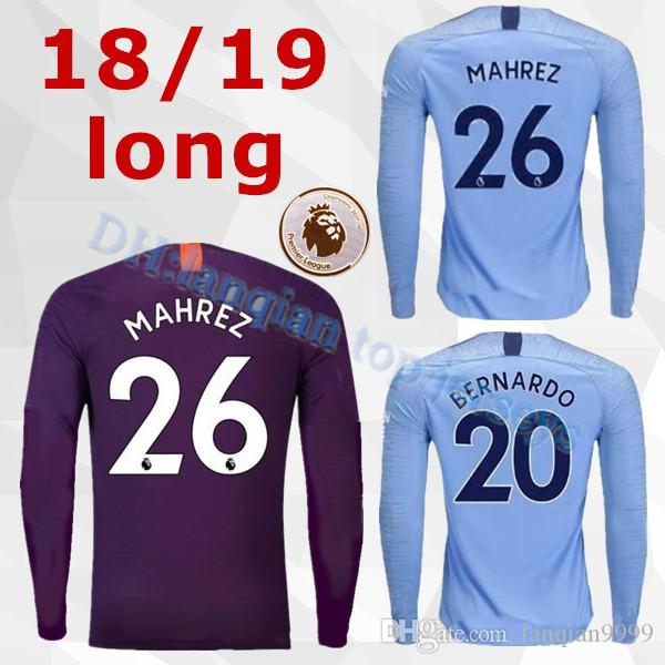 9e7666783 ... purchase 18 19 manchester city 3rd long sleeve soccer jerseys home kun  aguero de bruyne 17