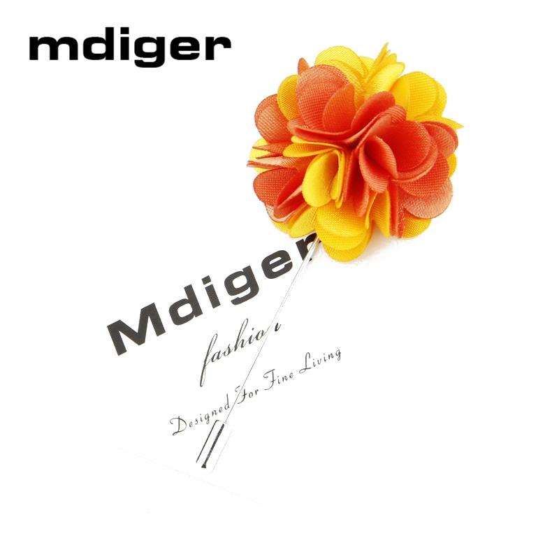 Mdiger Classic Colorful Pin Brooch for Men or Women Accessories Flower Brooch Long Pins For Wedding Suit Flower Lapel Brooches