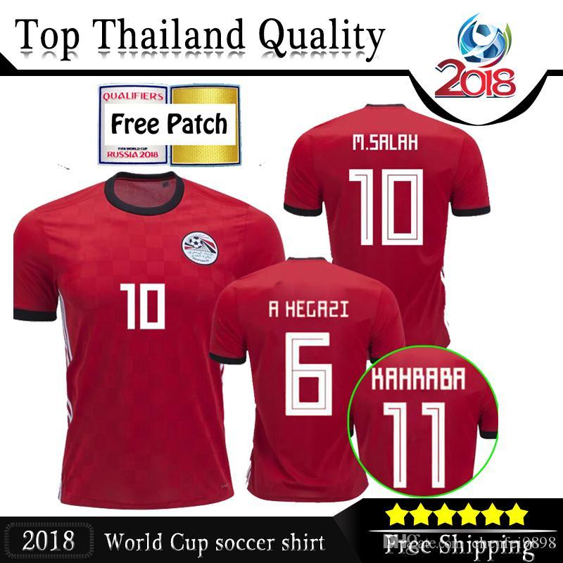2018 World Cup 2018 Egypt Home Soccer Jersey Egypt  10 M.SALAH ... 4c144c2d1