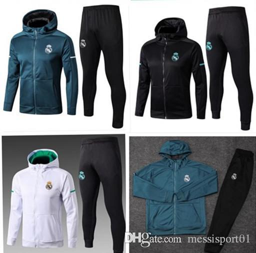 watch 67cc5 96cac 2018-19 Real Madrid Soccer jacket kit 18 RONALDO fooball Jersey Jacket  sweater suit
