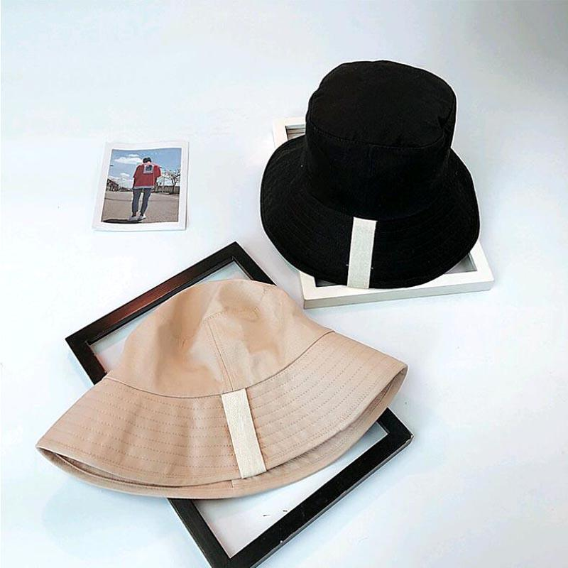 d8beebbe55370 Korean Big Brim Bucket Hat Women Spring Summer Leisure Fisherman Beach Hat  Outdoor Foldable Flat Cap Black Beige Hats And Caps Fedora Hats For Women  From ...