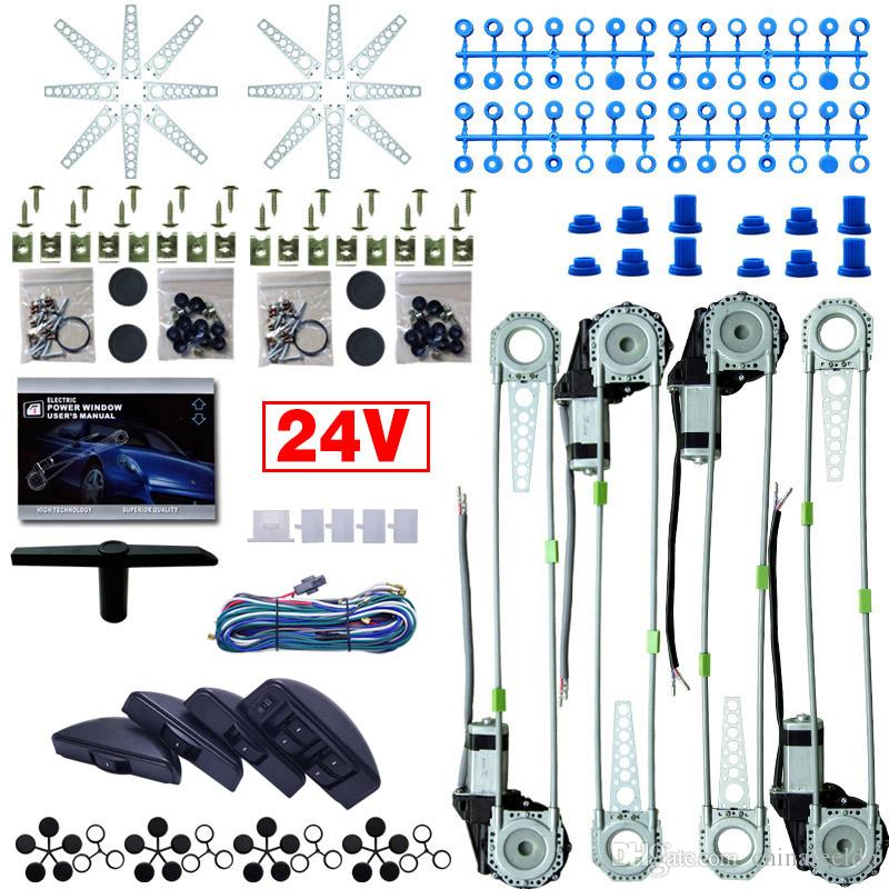 DC24V Universal Auto/Car 8pcs Moon Swithces & Harness Cable 4 Doors on