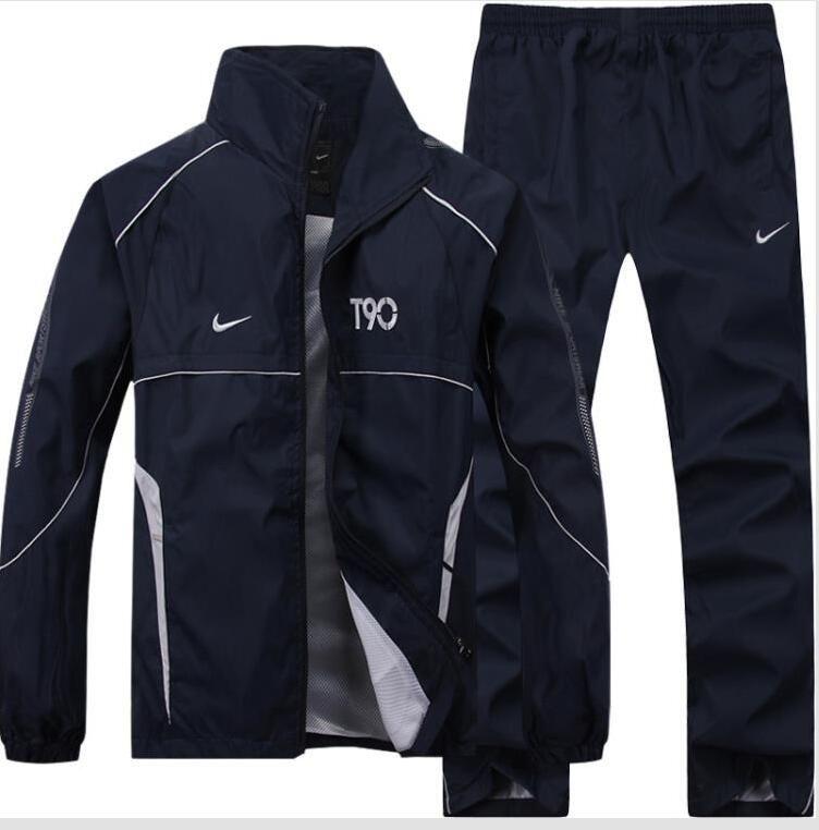 Compre Ropa De Mujer Para Hombre Chándal Chaqueta De Abrigo Nike Suit  Chándal Conjunto De Sudadera Traje Deportivo Informal Trajes Sudadera De  Alta Calidad ... d13ec56cd41dc