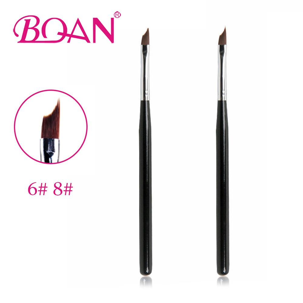 Bqan New Design Gel Nail Brush Wood Handle Nylon Brushes For French