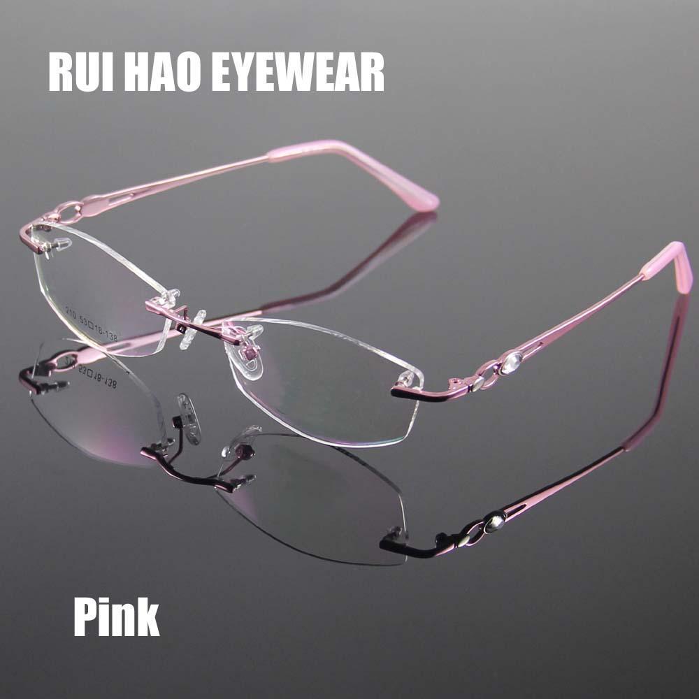 2018 Rimless Women\'S Glasses Frame Designer Spectacles Women ...