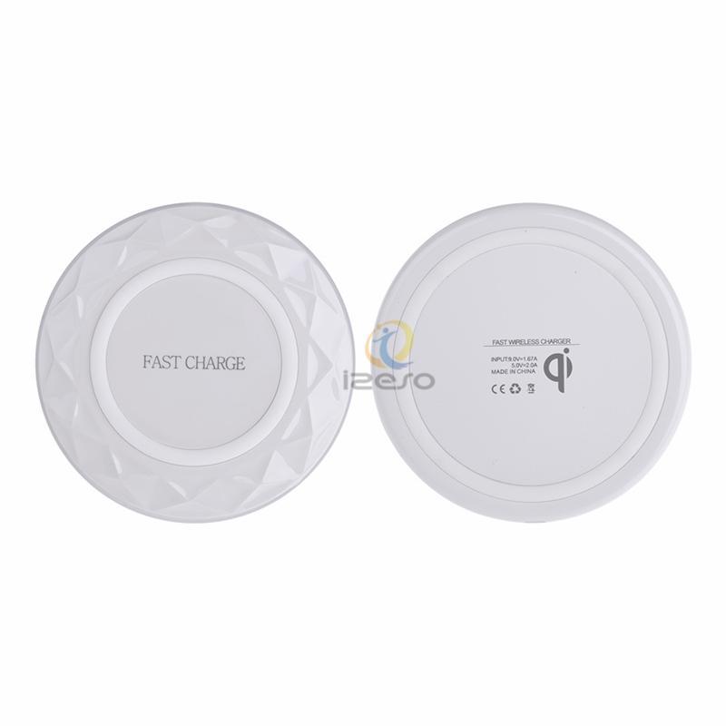 9V Delgado Portátil Diamond V6 Cargador de carga inalámbrico Qi rápido para el iPhone X 8 Plus Samsung Galaxy Note 8 S9 S8
