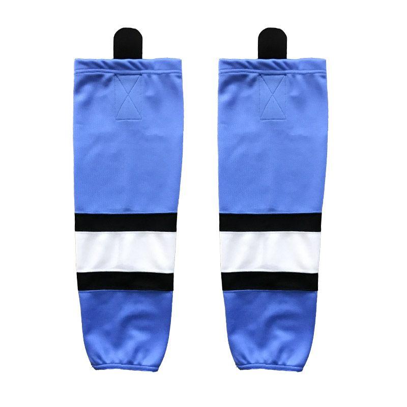 Coldindoor 100 Polyester The Light Blue Ice Hockey Socks Cheap Shin
